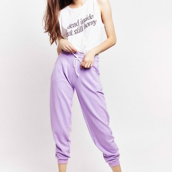 ME Rose Sweatpants in Lavender