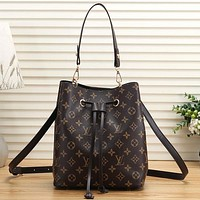 Louis Vuitton LV Women Fashion Leather Crossbody Shoulder Bag Handbag Bucket Bag Satchel