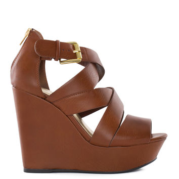 Alli Wedges - Tan