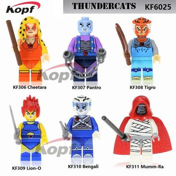 Single Sale American TV Movie Thundercats Mumm-Ra Tigro Cheetara Bengali Super Heroes Building Blocks Children Gift Toys KF6025