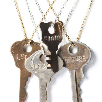 The Giving Keys - Dainty Pendant Necklace
