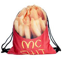 French Fry Mc S*** Drawstring Backpack/Bag