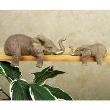 Elephant Shelf Sitter Set        -                Figurines and Collectibles        -                Home Accents                    - Touch Of Class