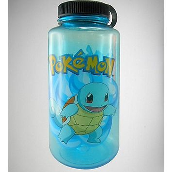Pokemon Squirtle Blue Water Bottle - Spencer's