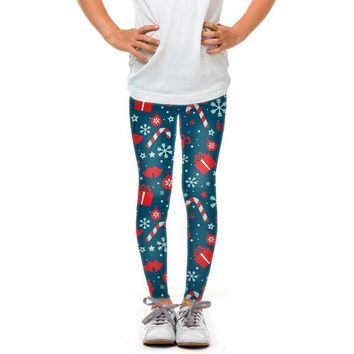 Youth Presents and Snowflakes Leggings