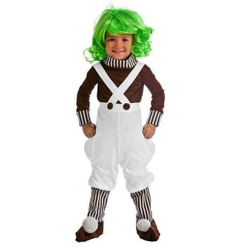 ESBON 2017 New Arrival Toddler Chocolate Factory Worker Cosplay Costumes Baby Boys Girls Costume Kids Outfit Dress Up Clothes