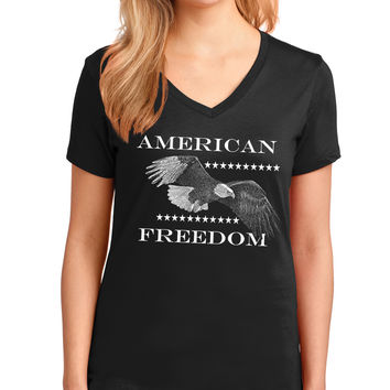 American Freedom Eagle V-Neck Tee