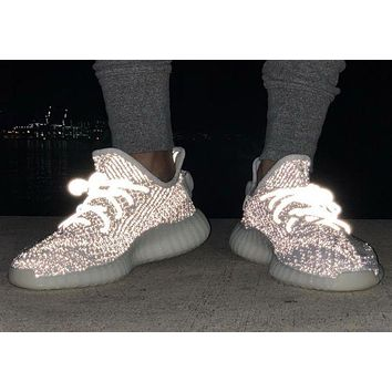 ADIDAS YEEZY 350 V2 BOOST Tide brand men and women starry reflective zebra coconut shoes