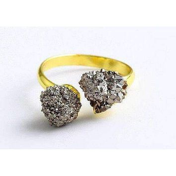 Gold Plated Druzy