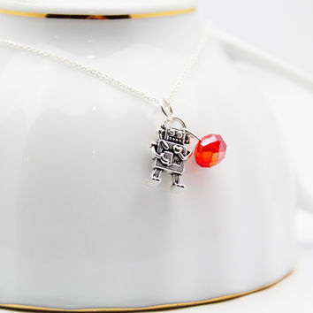 Love Bot Robot Necklace