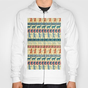 Egyptian Unicorn Pattern Hoody by That's So Unicorny