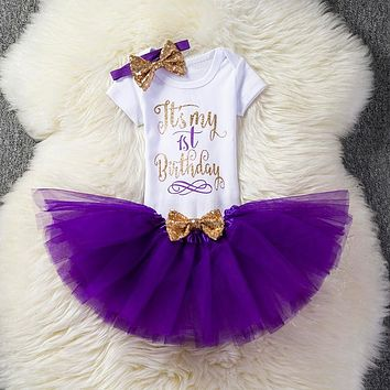 Newborn Baby Girl Baptism clothes sets 1 2 Years Birthday Kids O 08a1153625