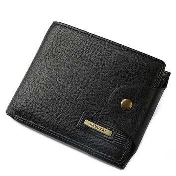 New Men Leather Credit/ID Card Holder Billfold Wallet