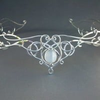 SilverMoon Circlet Headpiece Wedding Bridal Celtic by ElnaraNiall