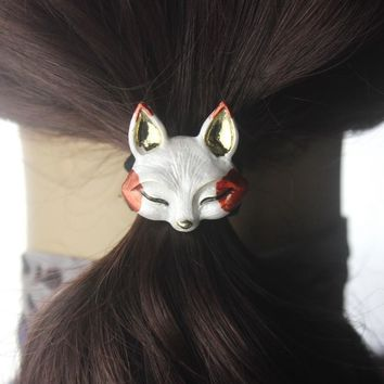 Cute Animal Scrunchy gum for hair clip metal Elastic Hair Band Elegant Girls Headwear women Hair Accessories rubber bands