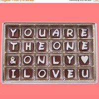 You Are The One And Only I Love You U Cubic Chocolate Letters Boyfriend Valentines Gift Men Gift Him Her Girlfriend Romantic Funny Cute Fun