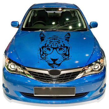 tiger Head car hood decal fashion animal Car Decals tiger Car Truck Side Body Graphics Decal Sticker for car kikcar56