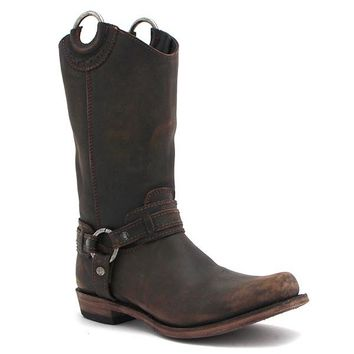 Liberty Black Vintage Cafe Harness Boots