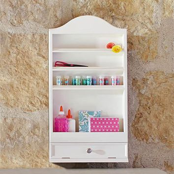 Arched Wall Tiered Manicure Storage