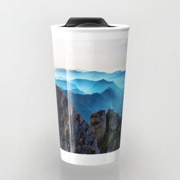 Mountains Breathe Too Travel Mug by Mixed Imagery