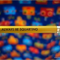 Always Be Squarting pencil