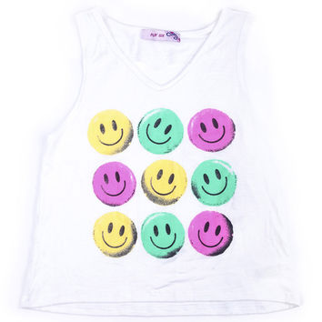 "Play Six ""Happy Face"" Tank With Heart Back Cut Out"