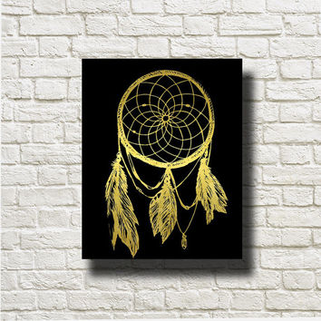 Dreamcatcher White Gold Printable Instant Download Digital Art Wall Art Print Poster Home Decor G226b