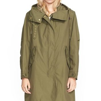 Women's Burberry Brit 'Thaxmead' Hooded Coat with Removable Liner,