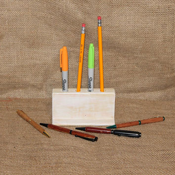 Distressed Painted Pencil Holder, Shabby Chic Desk Organizer, Recycled, Repurposed, C40