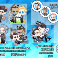 [Detroit Becoming Human] DBH charms set from Kemo Garden