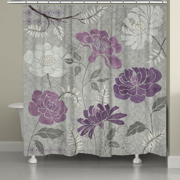 Gray And Purple Shower Curtain – Curtain Gallery