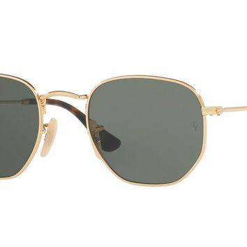 Ray-Ban RB3548N 001 48mm Gold Frame/Green Lens Sunglasses