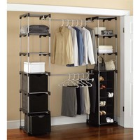 Walmart: Mainstays Closet Storage, Silver/Black