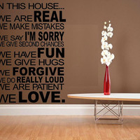 wall decal quote In this house We do house by WallDecalsAndQuotes