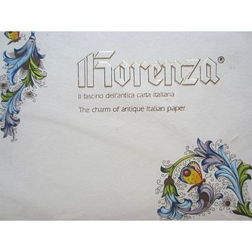 Fiorenza Italy Stationary Set Decorated Colorful Flowers Butterfly