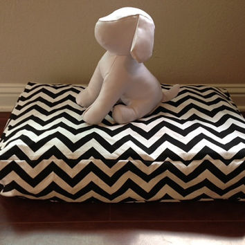 MEDIUM Size Chevron Zig Zag Black And White Dog Bed COVER
