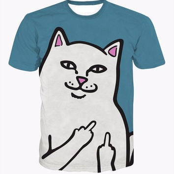 Harambe T-Shirt psychedelic mushroom Bad Trip t shirt Middle Finger Cat Funny tees Women Men 3D Casual tshirt