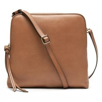 Banana Republic Double Pouch Crossbody Size One Size - Caramel