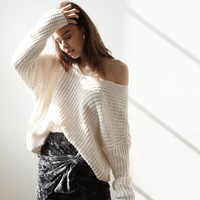 Moonstruck Oversized Knit Sweater