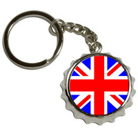 Britain British Flag Pop Cap Bottle Opener Keychain