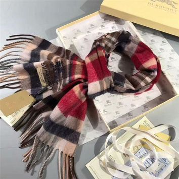 NOV9O2 Luxury Burberry Keep Warm Scarf Embroidery Scarves Winter Wool Shawl - Multicolor 2
