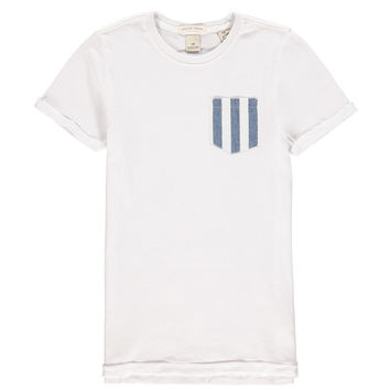 Scotch & Soda Boys White T-shirt With Pocket