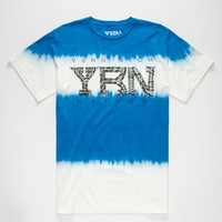 Yrn Color Block Mens T-Shirt Blue  In Sizes