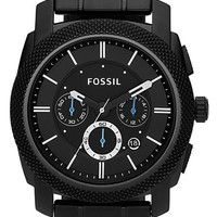 Men's Fossil 'Machine' Chronograph Bracelet Watch - Black