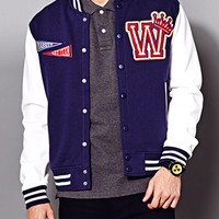 Half-Time Varsity Jacket Navy/Cream Large