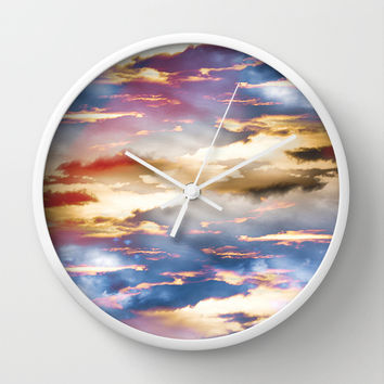 Combateur Wall Clock by HappyMelvin Graphicus