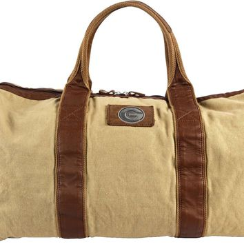 Canyon Outback Georgia Bulldogs 21-inch Canvas and Leather Duffel Bag