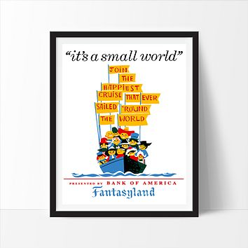 It's a Small World, Disneyland Poster