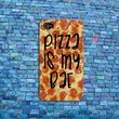 Funny Quote Cover Pizza is my Bae Cute Phone Case iPhone 4 4s 5 5s 5c 6 6s Plus