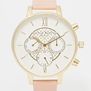 Olivia Burton Big Dial Chronograph Dusty Pink Watch
